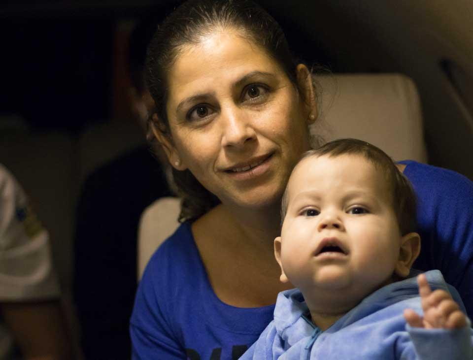 Transporte do bebê Davi Miguel para Miami