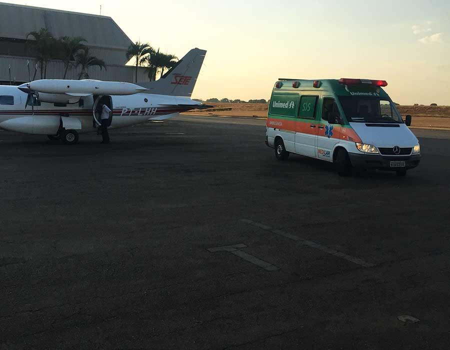 Transporte Aeromédico: Goiânia – Rio de Janeiro