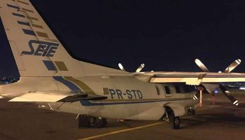 UTI Aérea - Transporte Aeromédico - Aeronave turbo-hélice - Mitsubishi Mu 2