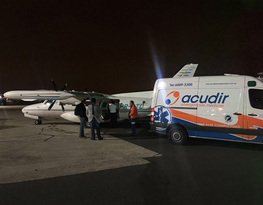 Voo UTI Aérea de Buenos Aires para São Paulo