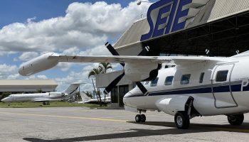 UTI Aérea e Transporte Aeromédico avião UTI Turbo Hélice - Mitsubishi MU-2