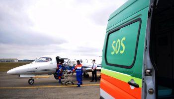 UTI Aérea Avião UTI learjet 35a - Transporte aeromédico de Jataí-GO para São Paulo